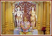 Shri Shiv-Parvati and Shri Ganeshji